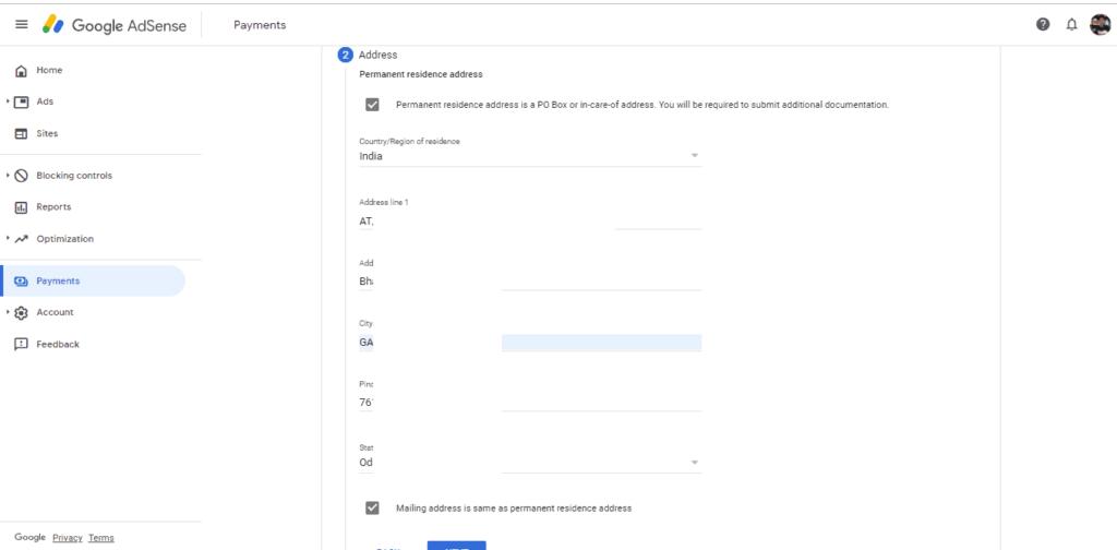 गूगल एडसेंसे का टैक्स इन्फॉर्मेशन कैसे भरे | Google Adsense Me Tax Information Kaise Bhare In Hindi